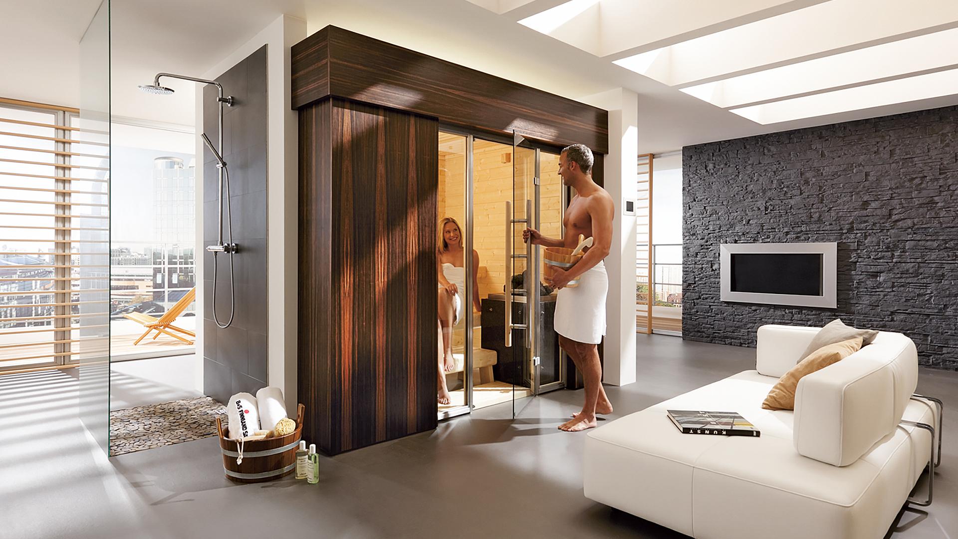 B+S Finnland Sauna Saunahersteller Design Sauna Luxus Sauna Premium Sauna