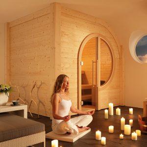 B+S Finnland Sauna Einbausauna Saunahersteller Luxus Sauna Design Sauna Meditation