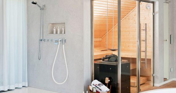 B+S Finnland Sauna Barrierefrei Saunahersteller Luxus Sauna Design Sauna