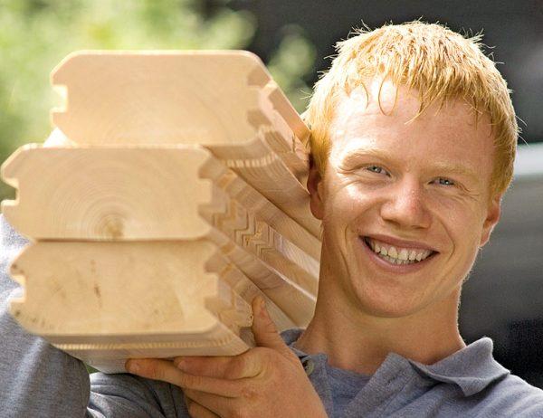 Bild mit Link zum Thema Blockbohlen-Bauweise
